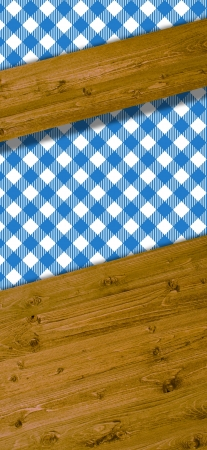 Beams for text with pattern blue white tablecloths photo