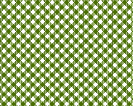Checkered tablecloth in dark green and white photo