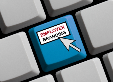 employer: Employer Branding online Stock Photo