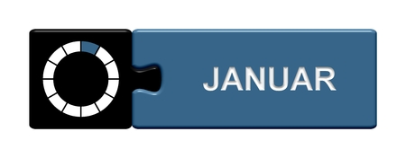Puzzle button black and blue  January photo