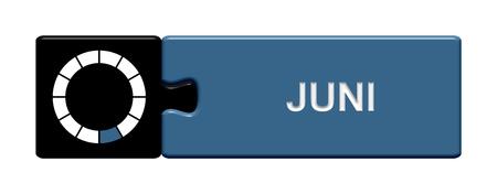Puzzle button black and blue  June photo