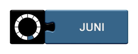 Puzzle button black and blue  June photo