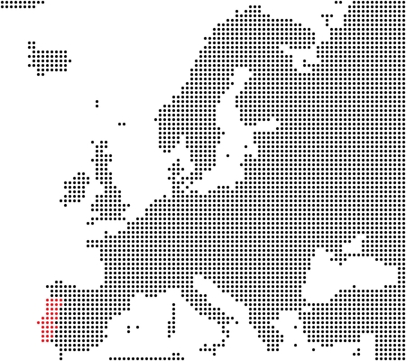 Portugal - Series  Pixel map of Europe photo