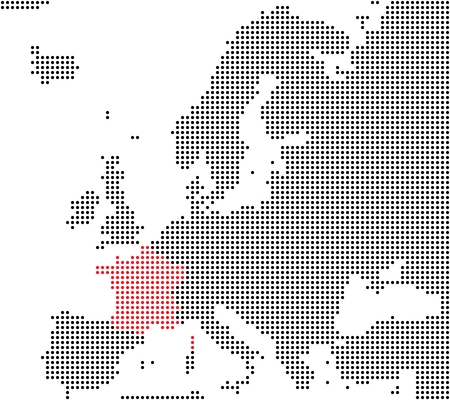 France - Series  Pixel map of Europe photo