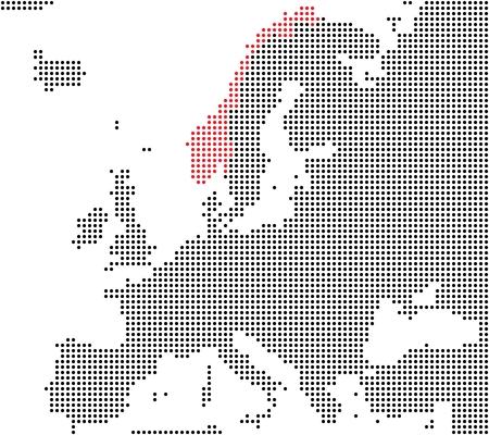 Norway - Series  Pixel map of Europe