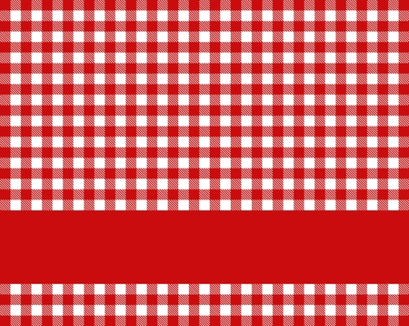 Red tablecloth with stripe photo