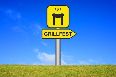 Se�al de direcci�n Grillfest photo