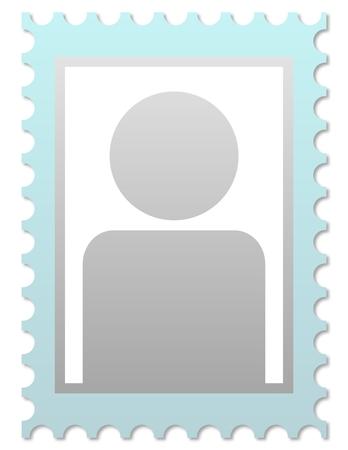 foto carnet: M�scara para la imagen individual