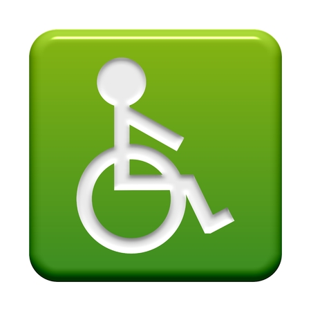Button green  Wheelchair photo