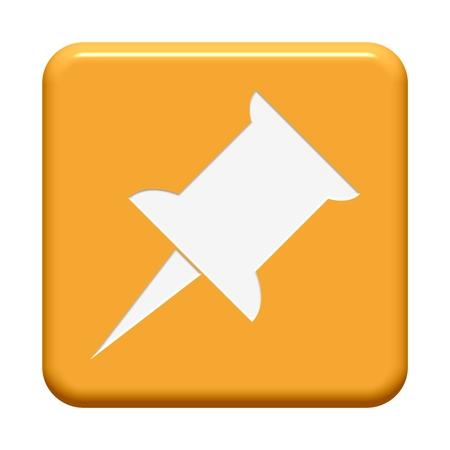 pinning: Orange Button Pin