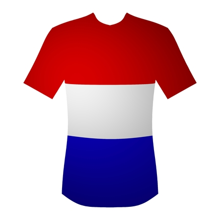 bue: T-shirt Netherlands red, white and bue