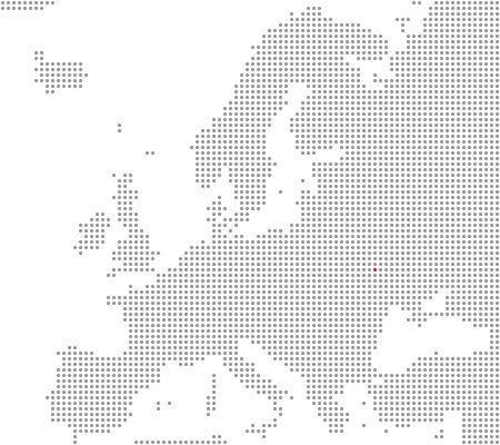Pixel map Europe  Kiev is here Stock Photo - 27721248