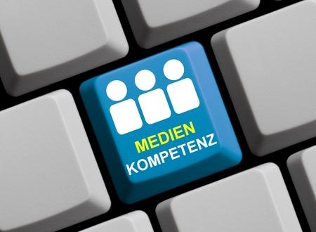 responsibly: Media competence Stock Photo
