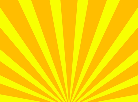 Background of yellow and orange rays photo
