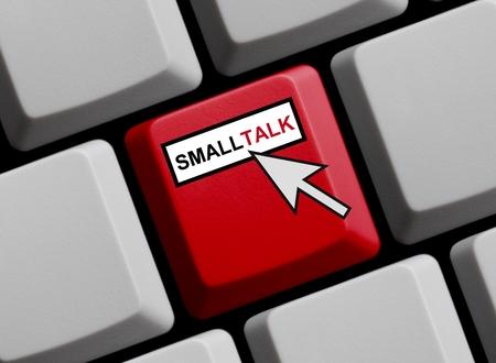 unimportant: Smalltalk online Stock Photo