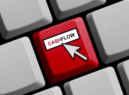 cashflow: Flujo de caja en l�nea Foto de archivo