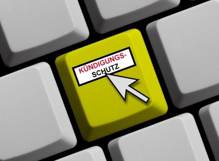 Kündigungsschutz online Stockfoto