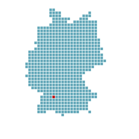 stuttgart: German map with location of Stuttgart
