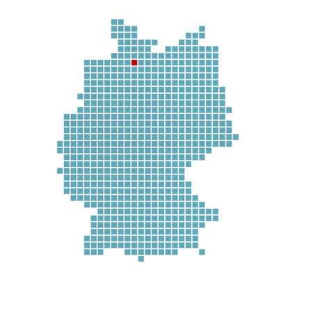 German map with location of Hamburg photo