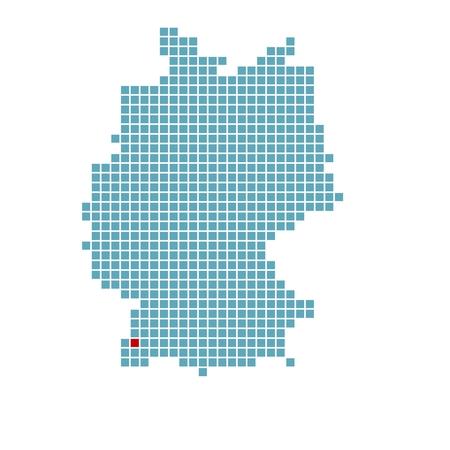 freiburg: German map with location of Freiburg