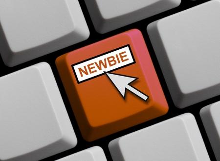 layman: Newbie online Stock Photo