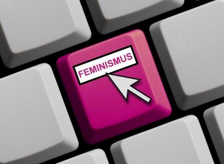 Feminism online Stock fotó