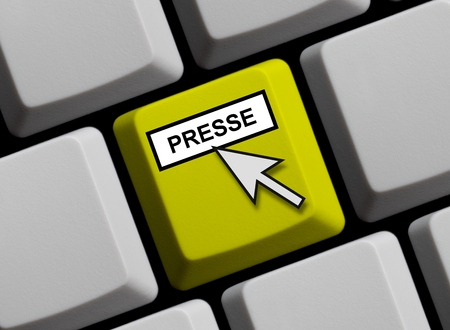 press release: Press online Stock Photo