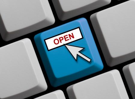 オープンなオンライン 写真素材