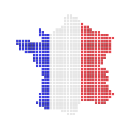 Pixel map of France photo