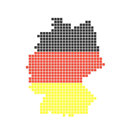 Pixel map of Germany photo