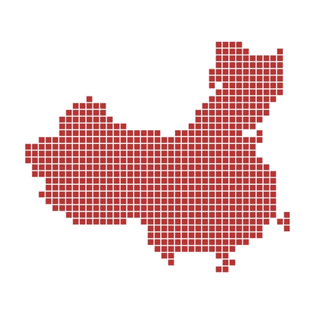 Red map of China photo