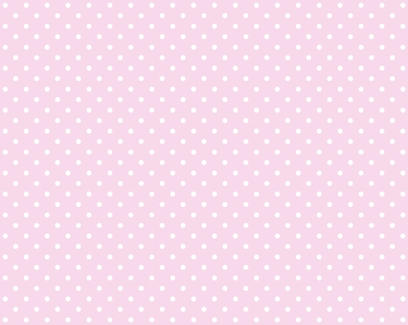 polka dot fabric: Pink background with small white dots