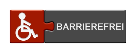 unable: Puzzle Button barrier-free Stock Photo