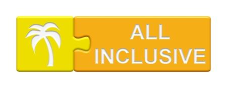 inclusive: Puzzle Button all inclusive Stock Photo
