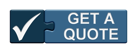 Puzzle Button get a quote Stock Photo
