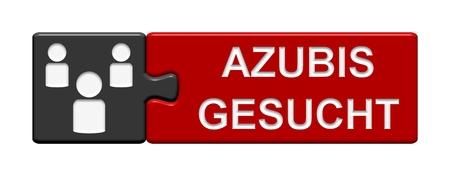 Puzzle Botón Azubis gesucht Foto de archivo - 33305548