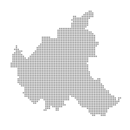 hamburg: Map Hamburg districts  Hamburg Stock Photo