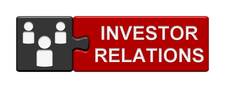 investor: Puzzle Button Investor relations Stock Photo