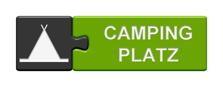 campground: Puzzle Button Camping Stock Photo