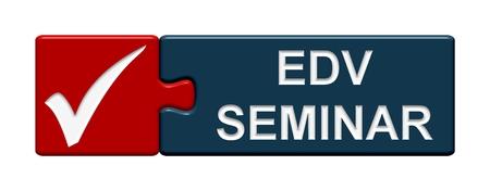 edv: Puzzle Seminario Button EDV