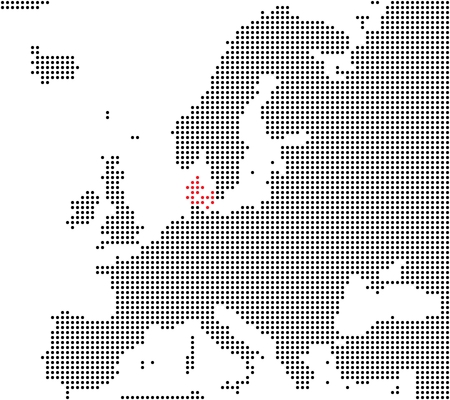 Pixel map Europe  Denmark is here photo