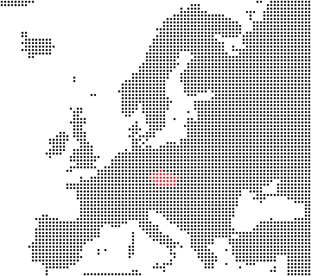 Pixel map Europe  Czech Republic is here photo