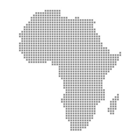 Pixel Map of Africa photo