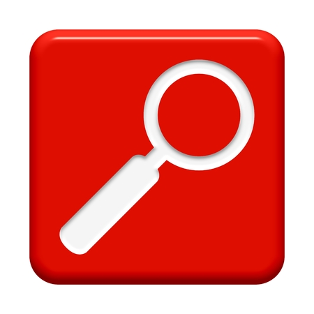 Red Button magnifying glass photo