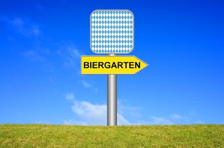 biergarten: Directional Sign  Biergarten
