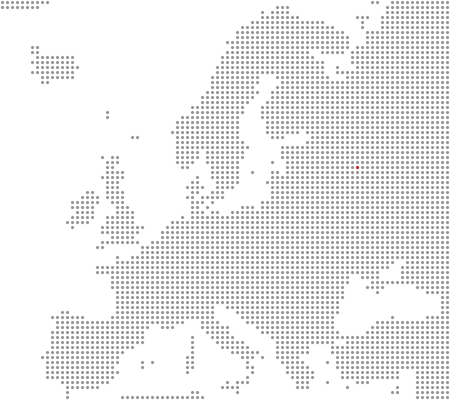 Map of Europe - Moscow is here photo