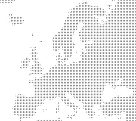 Europe map - Copenhagen is here photo