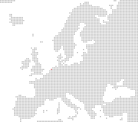 Europe map - Amsterdam is here photo