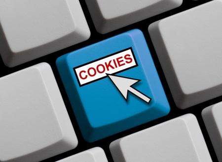 Cookies online Banque d'images