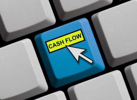 cash flow: Cash flow online Stock Photo